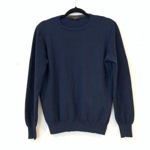 Jaeger M Merino Wool Navy Sweater Crew Pullover